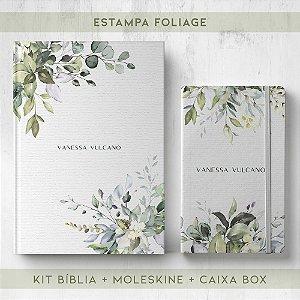 BIBLIA + MOLESKINE + BOX  - FOLIAGE