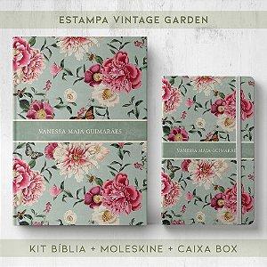 BIBLIA + MOLESKINE + BOX  - VINTAGE GARDEN