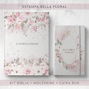 BIBLIA + MOLESKINE + BOX  - BELLA FLORAL