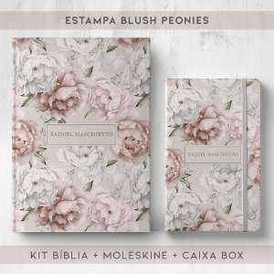BIBLIA + MOLESKINE + BOX  - PEONIES