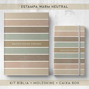BIBLIA + MOLESKINE + BOX  - WARM NEUTRAL