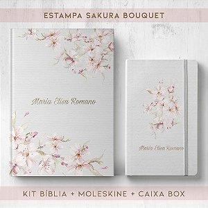 BIBLIA + MOLESKINE + BOX  - SAKURA BOUQUET