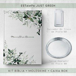 BIBLIA + SALVA + MARCADOR + BOX  - JUST GREEN