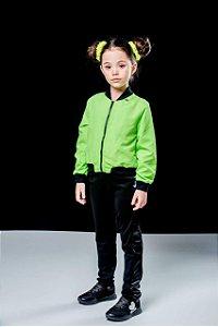 Jaqueta Corta Vento Infantil Feminino em Tecido Tecnologico