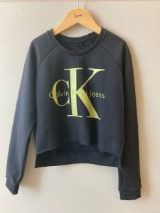 Blusa de Moletom Calvin Klein Preto Com Verde