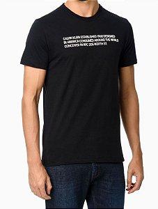 Camiseta mc Silk Statement Preto