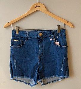 Shorts Feminino Jeans Desfiado