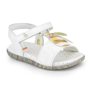 Sandália Infantil Bibi Baby Soft Feminino Branco de Brilho