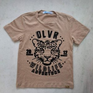 T-shirt de Malha Com Silk Bege
