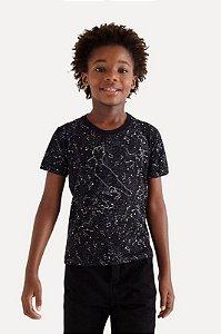 Camiseta Mini Estampada Zodiaco