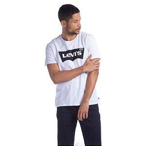 Camiseta Adulto Levi`s Branco Logo em Preto