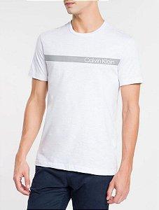 Camiseta mc Slim Institucional Faixa Branco