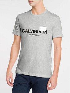 Camiseta mc Slim Silk Calvin Klein ny Mescla