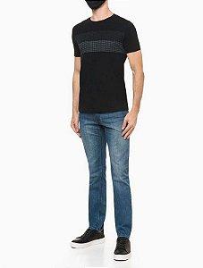 Camiseta mc Regular Calvin Klein Preto