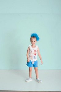 Conjunto Infantil Feminino Blusa Com Babado na Gola e Short Moletom Liso