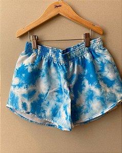 Shorts Feminino Azul Tie Dye