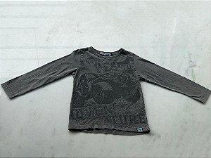 Camiseta Infantil Masculina Malha de Algodão Tingida Com Silk