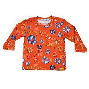 Camiseta Infantil Masculina Malha Estampa Patinhas