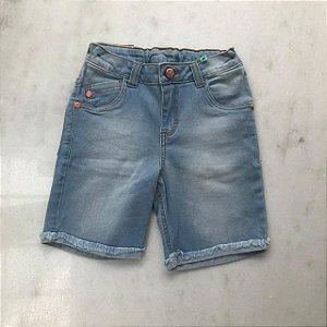 Bermuda Jeans Five Pockets Detalhe Desfiado