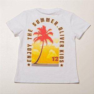 Camiseta Infantil Masculina com Silk nas Costas