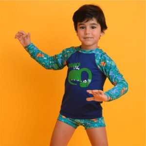 Blusa UV Infantil Dinossauro