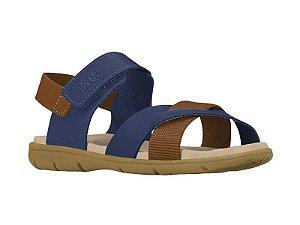 Sandália Infantil Bibi Basic Sandals Masculino Marinho e Caramelo