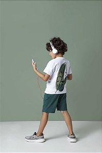 T-shirt Com Silk Nas Costas Manga Longa