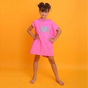 Saída Infantil Roupão Rosa