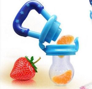 Alimentador De Fruta Bico Silicone Para Bebes Rede + 1 Refil