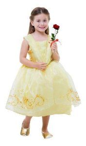 Fantasia Princesa Bela Fera Clássica Vestido Amarelo Infanti