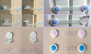 Travas De Segurança Multiuso Flexível Gavetas Portas