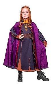 Fantasia Ana Anna Luxo Frozen 2 Infantil Vestido Original