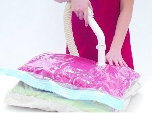 Saco A Vacuo Organizador Protetor Roupa Cobertor 60x80 Cm