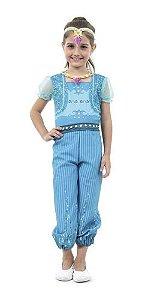 Fantasia Shimmer E Shine Gênias Gêmeas Shine Azul Infantil