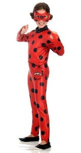 Fantasia Infantil Miraculous Ladybug Com Mascara E Pochete