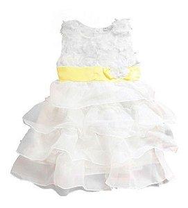 Vestido Branco Infantil Festa Menina Casamento Ano Novo