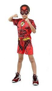 Fantasia Flash Infantil Curta Com Músculo Liga Da Justiça