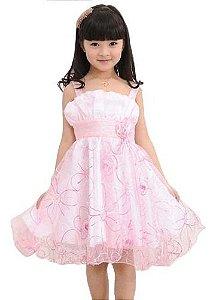 Vestido Infantil Festa Aniversário Princesa Curta Menina Lux