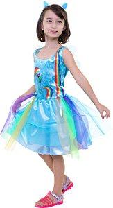 Fantasia Rainbow Dash Infantil My Little Pony Clássica Origi