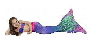 Cauda De Sereia C/ Nadadeira E Sapatinho Neoprene Calda
