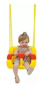 Balanço Balança Infantil Com Encosto, Cinto Proteção E Corda
