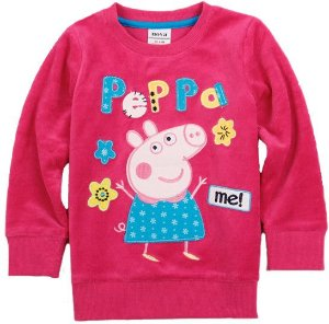 Blusa de Plush Pink Fechada Peppa Pig