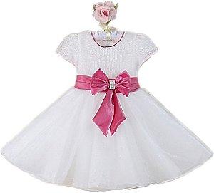 Vestido Festa Casamento Luxo Princesa Infantil Menina