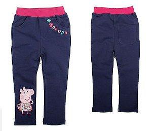 Calça Comprida Peppa Pig Azul Marinho
