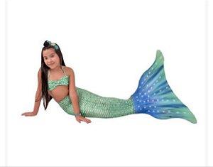 Cauda De Sereia C/ Nadadeira E Sapatinho Neoprene Calda Yasmin