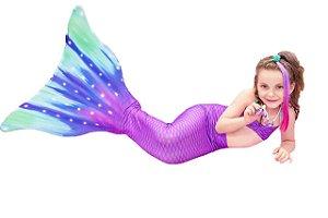 Cauda De Sereia C/ Nadadeira E Sapatinho Neoprene Calda Lily