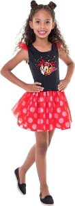 Fantasia Minnie Mouse Disney Vestido Infantil