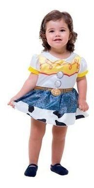 Fantasia Vestido Body Jessie Baby Cowgirl Bebê Toy Story