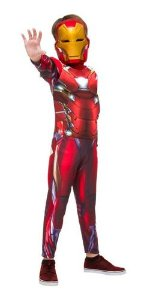 Fantasia Homem De Ferro Iron Man Longa Infantil Guerra Civil