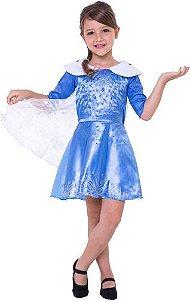 Fantasia Frozen Elsa Infantil Disney Congelante Vestido